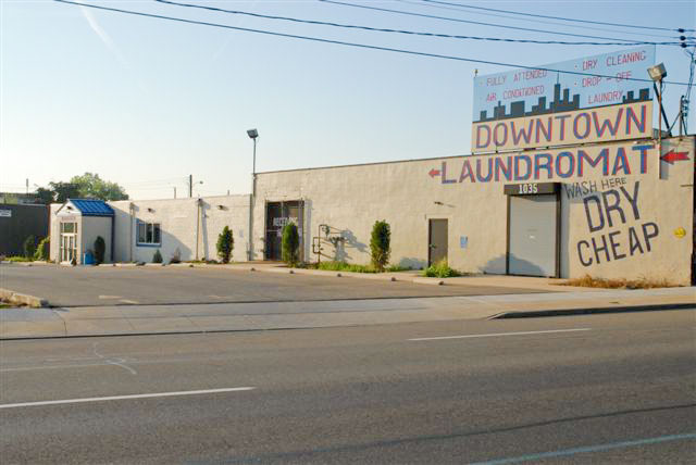 Front View of Downtown Laundromat